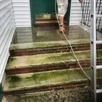 Before and After Power Washing Montclair, NJ