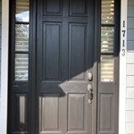Stained Wood Door Painted Black in Westfield